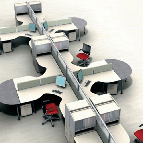 Modern modular office layout marketing research firm for Marketing office design