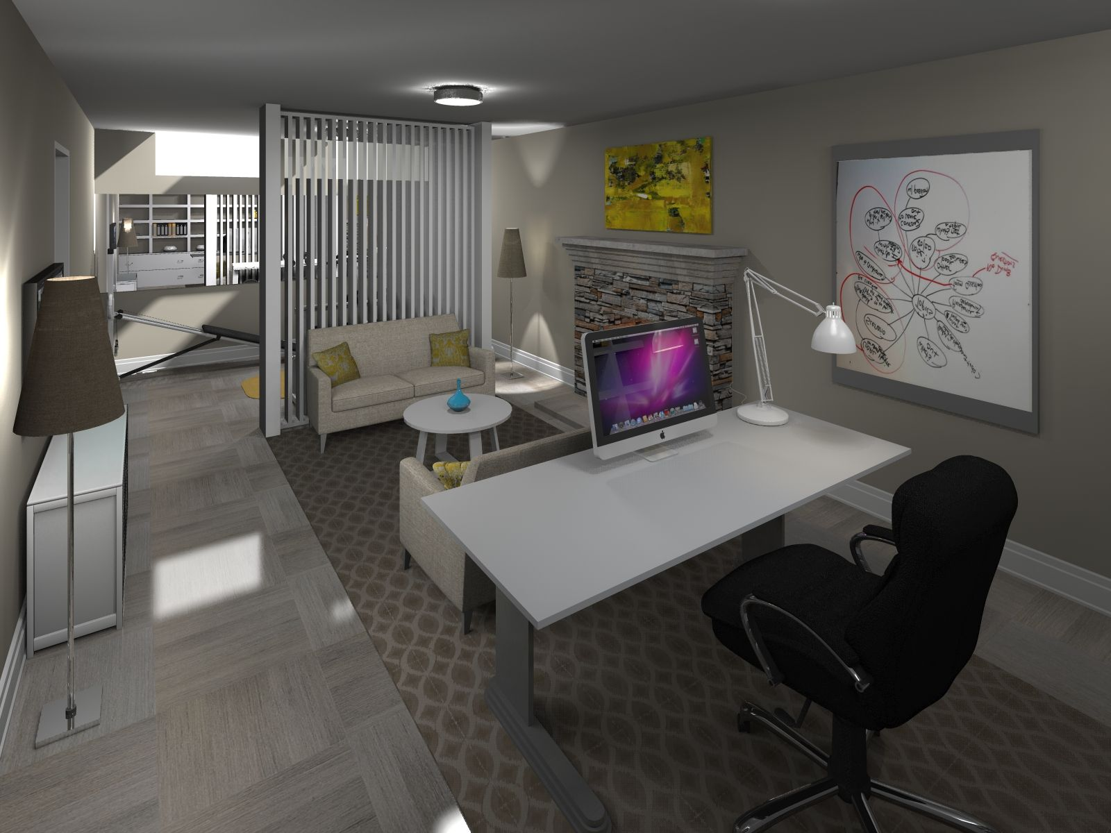 Basement Office Design Property designednemanja kovacevic - basement office / gym