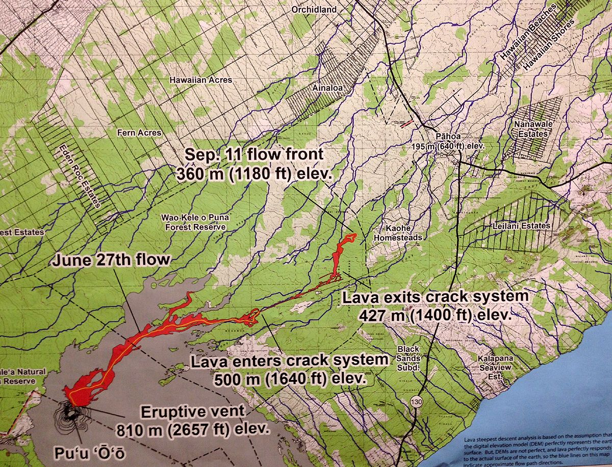 The Sept 11 USGS HVO lava flow map This map shows the actual path