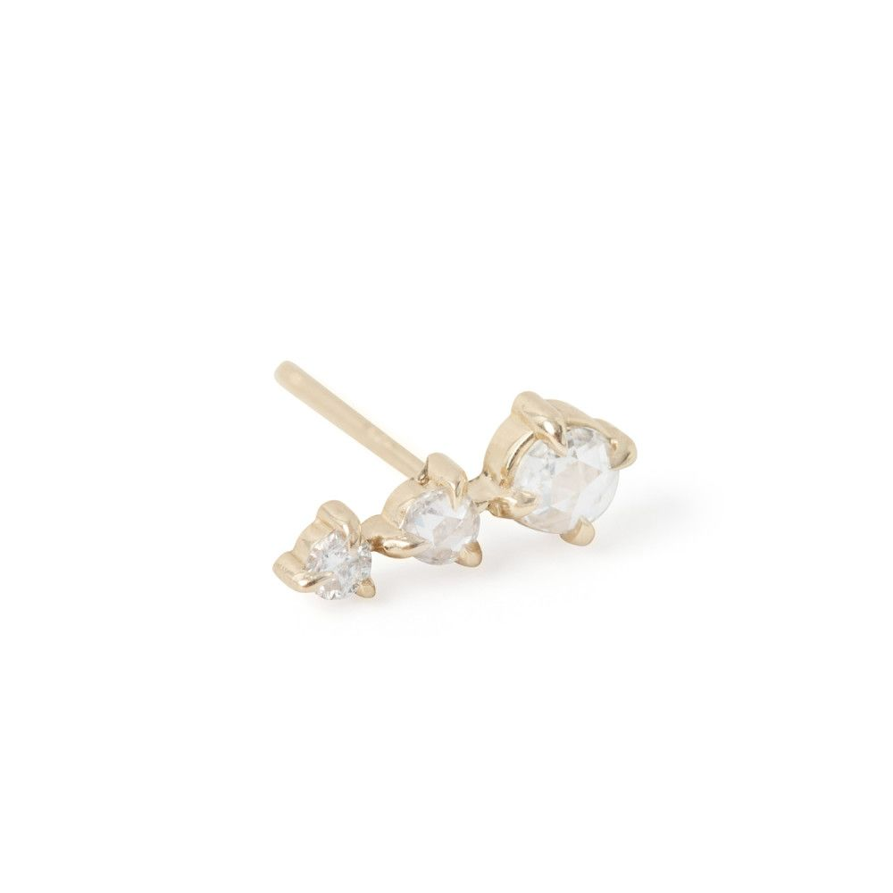 Snow Queen Diamontrigue Jewelry: Snow Queen Stud, Yellow Gold (SINGLE)