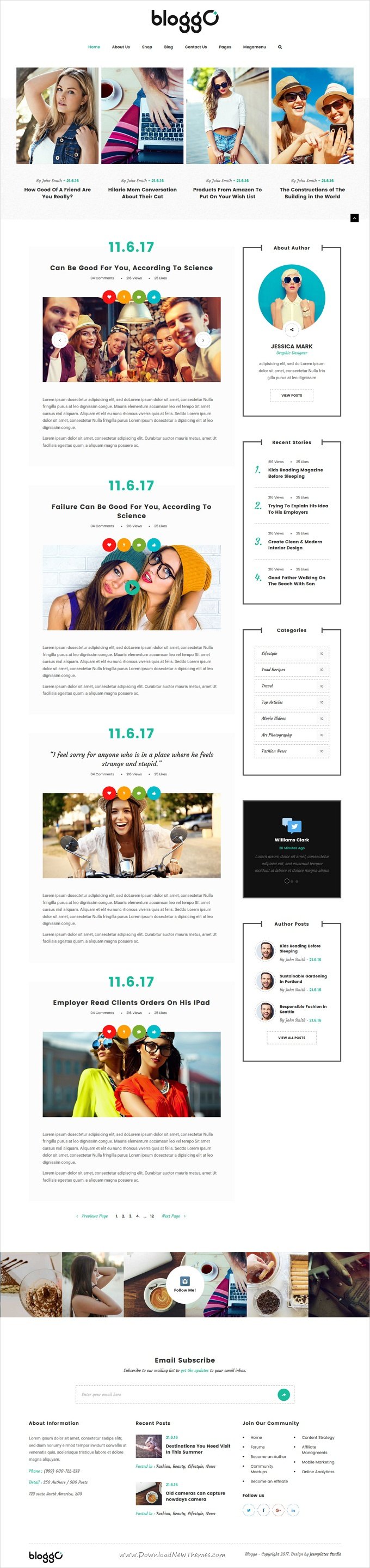 Bloggo - Multipurpose Blog Template | Template