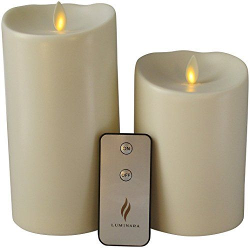 Outdoor Flameless Candles Unique Set Of 2 Luminara Outdoor Flameless Candles 375X5 375X7 Outdoor Review