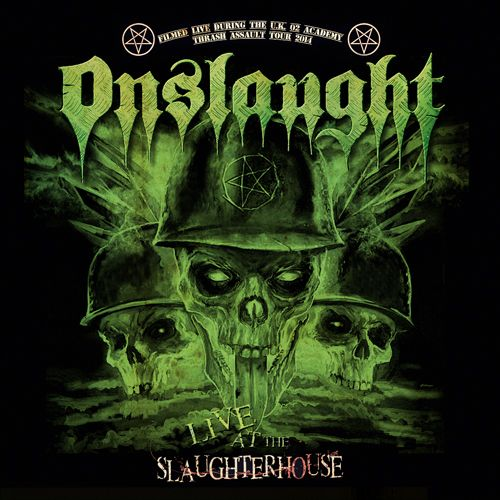 "ONSLAUGHT: UK Thrashers release ""Live At The Slaughterhouse""  After more than 6 years since their last visual release, ONSLAUGHT bring out ""Live At The Slaughterhouse"" (DVD/CD) on February 26th, which captures the still intensively fascinating live atmosphere of two gigs in the UK (Bristol and London) on DVD and additional CD. The band is playing a set of 13 thrashing songs which is appreciably infecting the audience and, perpetuated in this special release..."