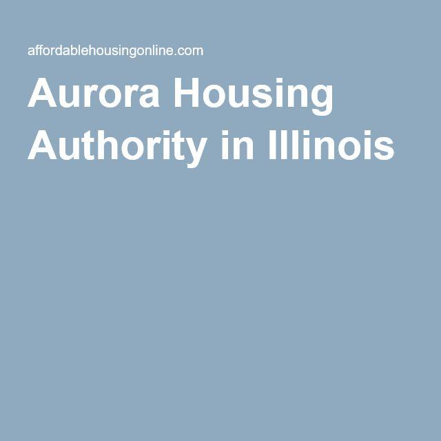 Aurora Housing Authority In Illinois Author Illinois Aurora