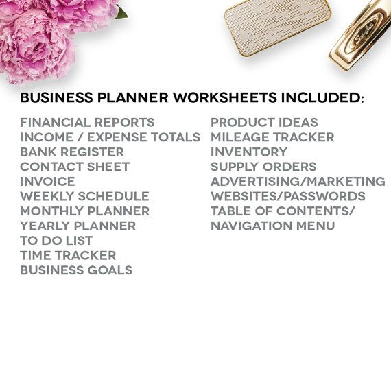 Home Business Planner 2017 2018 Excel by PerennialPlanner on Etsy