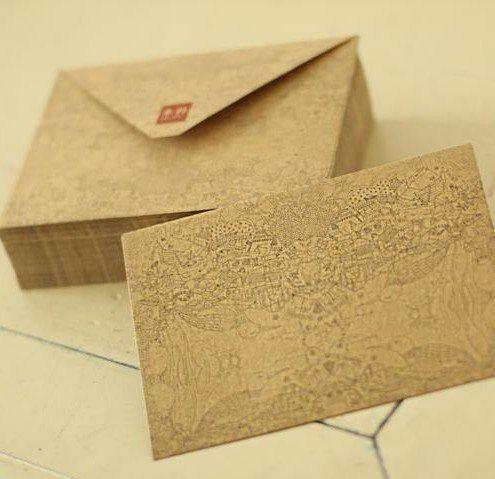 Craft Envelopes 5 Envelopes Craft Paper Envelopes Vintage Envelopes