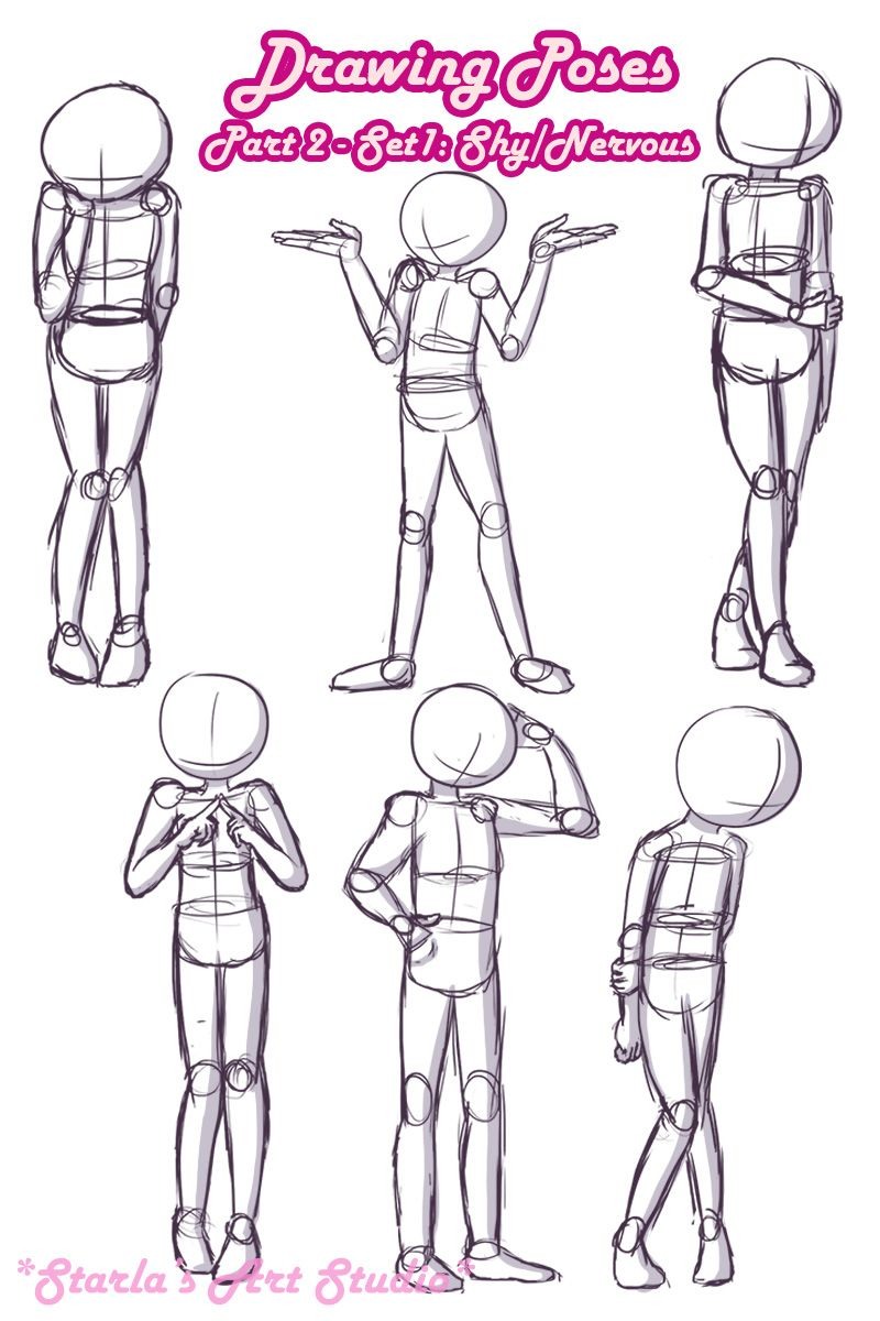 Shy Poses Here is a quick reference page for shy or nervous poses