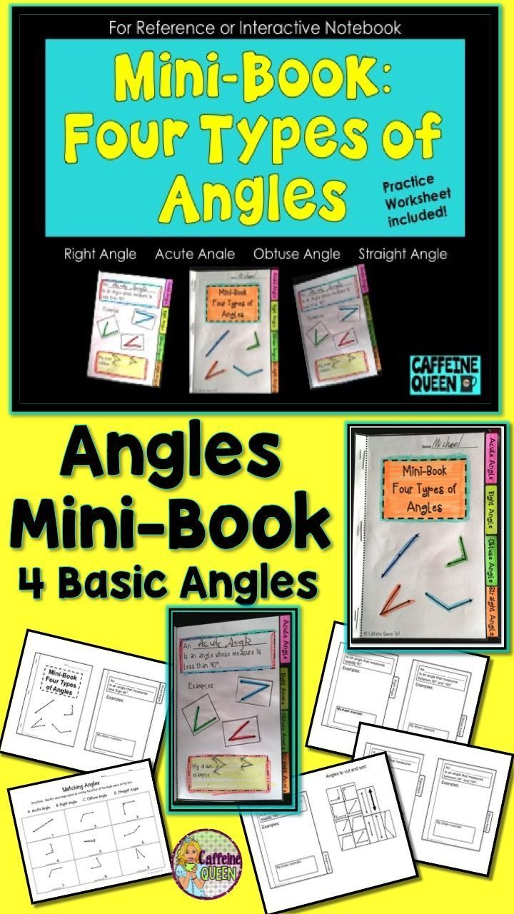 Angles Foldable Activities Flip book, Interactive