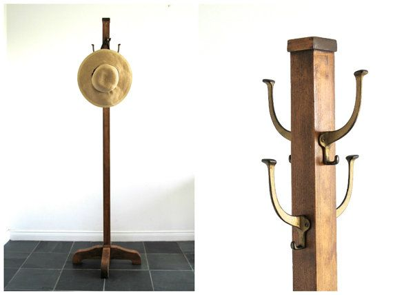 Awesome Brass Hall Tree Coat Rack