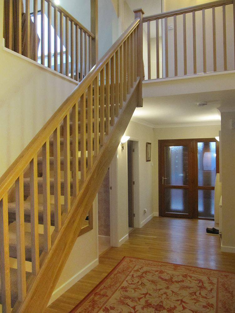Staircase Leading To Open Plan Study Loft Conversion