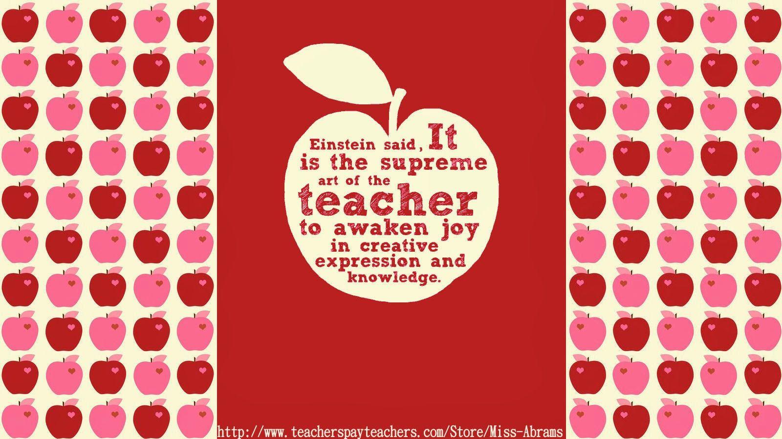 Free Teacher Themed Wallpapers To Decorate Your Computer Desktop Super Cute Free Teacher Teacher Supreme Art