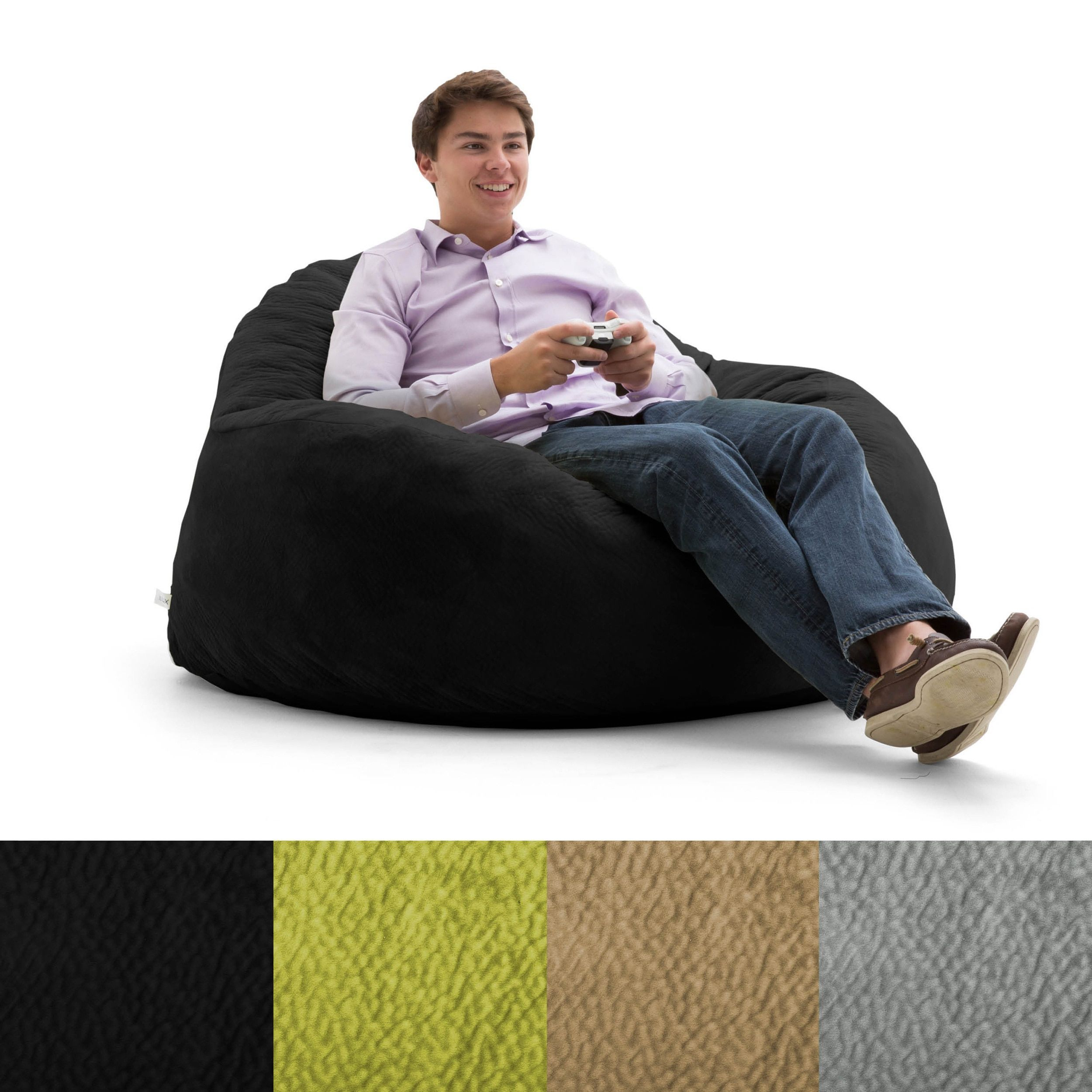 Super Fufsack Big Joe Lux Chillum Textured Memory Foam Bean Bag Dailytribune Chair Design For Home Dailytribuneorg