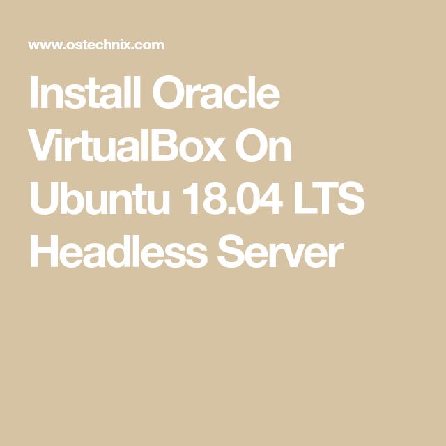 install virtualbox ubuntu server headless
