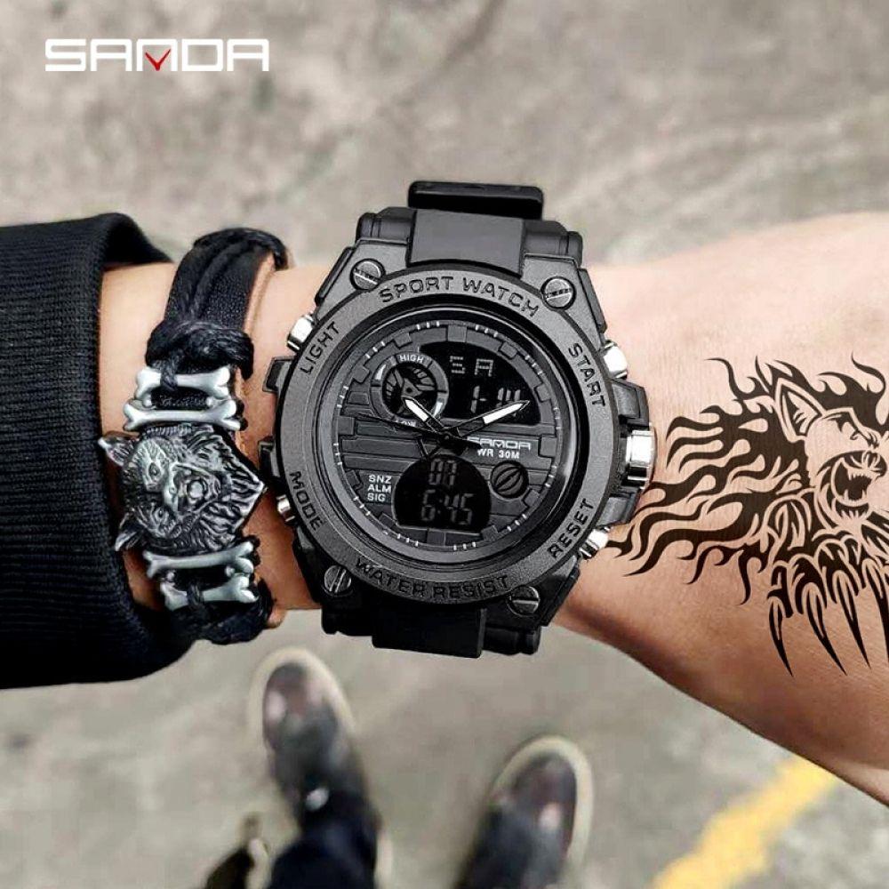 2019 New Sanda 739 Sports Men S Watches Top Brand Luxury Military Quartz Watch Men Waterproof S Shock Clock Watchesextreme Luxury Watches For Men Watches For Men Military Watches
