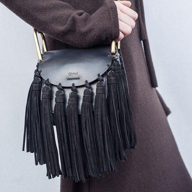 The new Hudson shoulder bag comes embellished with striking tassels #PFW