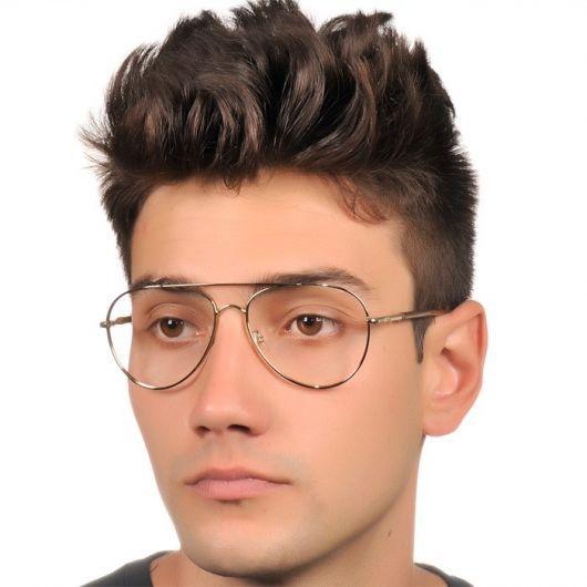 dcb0209c3 armação óculos grau masculino aviador | Vestuario | Glasses, Round ...
