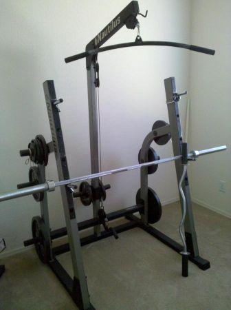 Unique Gold Gym Rack