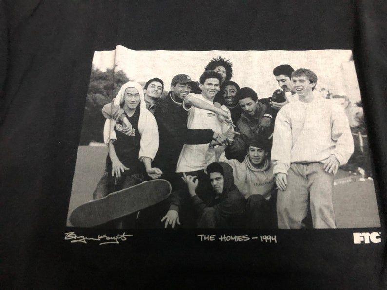 Vintage FCUT the homies 1994 SKATEBOARDS promo t shirt Sz | Etsy