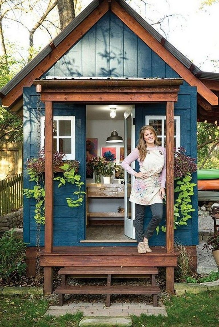 15 Lovely Colorful And Bright Painted Shed Ideas Painting Paint Paintedfurniture Paintedrocks Garden Shed Interiors Painted Shed Backyard Sheds