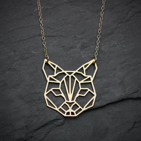 cat necklace origami necklace cat jewelry origami jewelry necklace etsymktgtool catnecklace origaminecklace catjewelry origamijewelry