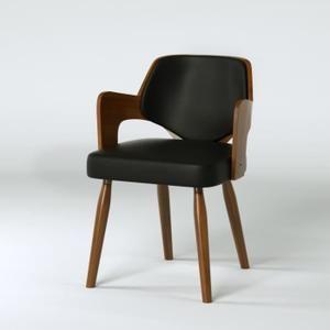 KIRUNA Chaise de salle  manger en bois bambou Revªtement simili