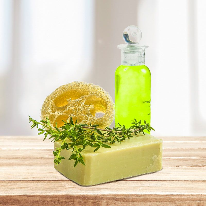 shampoo selber machen rezept thymian shampoo gegen schuppen kosmetik selber machen. Black Bedroom Furniture Sets. Home Design Ideas