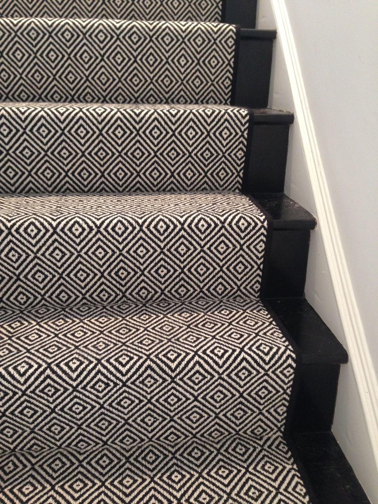 look at this beautiful custom stair runner black diamond by