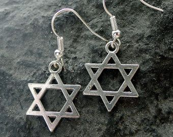 Silver Star Of David Earrings Everyday Jewish Jewelry Religious Judaism Israel B6593