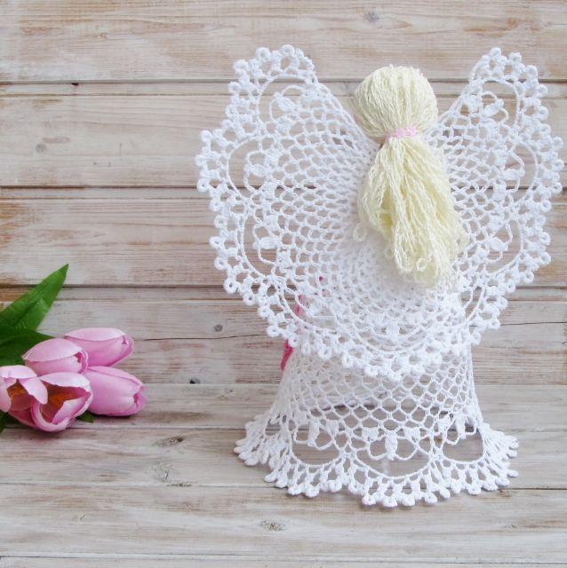 Самые красивые ажурные ангелы крючком | tejido | Pinterest ...