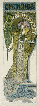 Sarah Bernhardt in 'Gismonda' (poster by Alphonse Mucha)