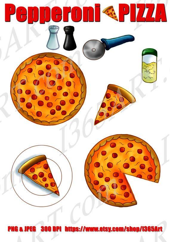 Buy 3 Get 1 Free Pizza Clipart Pizza Clip Art Scrapbooking Etsy Pizza Clip Art Love Pizza