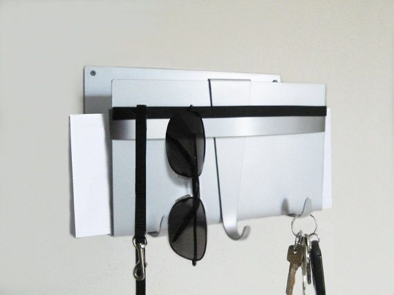 Modern Wall Key Holder And Mail Organizer Mail Organizer Wall Wall Key Holder Modern Key Holder