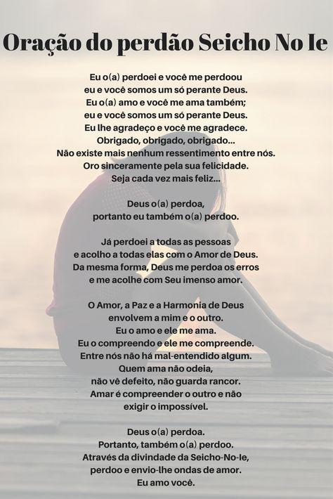 Top Oração do #perdão Seicho No Ie   Serenidade   Pinterest   Perdão  EU12