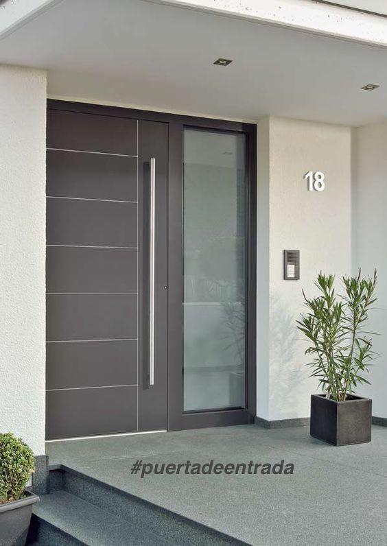 La puerta de entrada de tu hogar dice mucho de ti for Puertas modernas de entrada principal metalicas