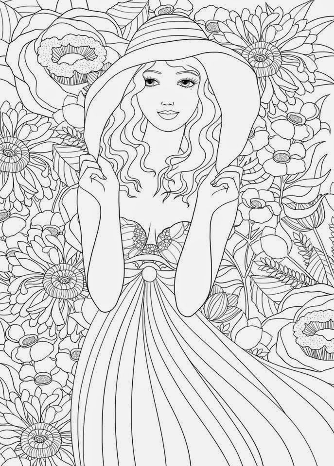 Art th rapie coloriage pdf recherche google dolls doll - Coloriage therapie ...