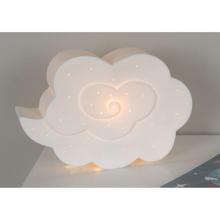 Lampe à poser en porcelaine ajourée blanche