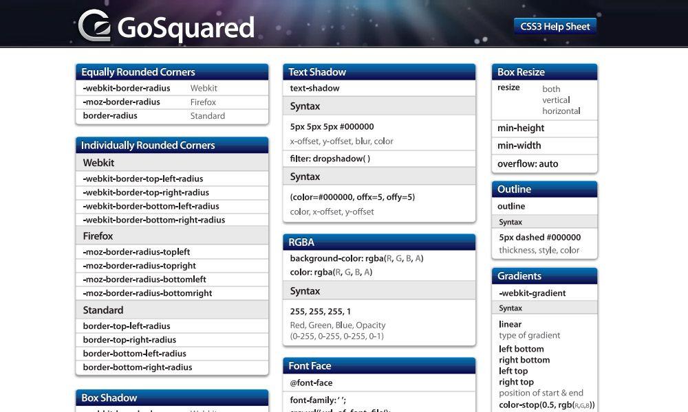 CSS3 Cheat Sheet | HTML & CSS Cheat Sheets | Pinterest