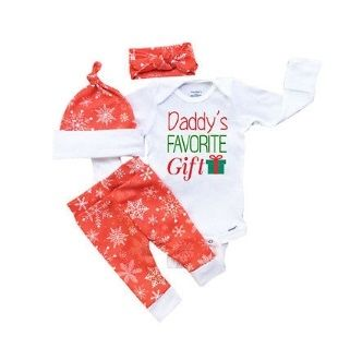 "DADDY'S FAVORITE GIFT SET PRICE $14.99 OPTIONS: 0/6M, 6/12M, 12/18M, 18/24M To purchase: comment ""sold"", size & email"