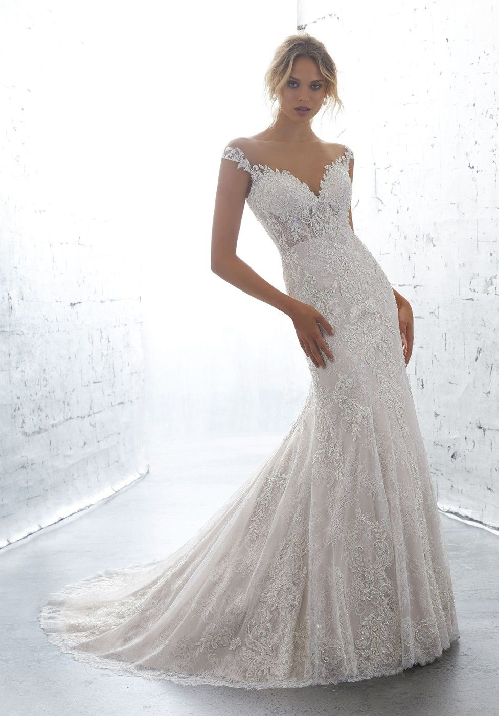Fit And Flare Wedding Dress Mori Lee
