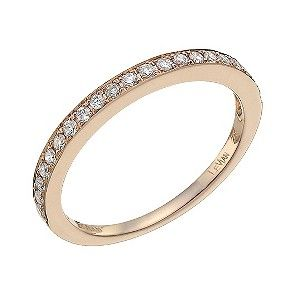 A beautiful 14ct Strawberry Gold Le Vian band, generously adorned with sparkling Vanilla Diamonds. A timeless diamond band which be worn as part of a stunning Le Vian bridal set. Matching ring available SKU - 9757899