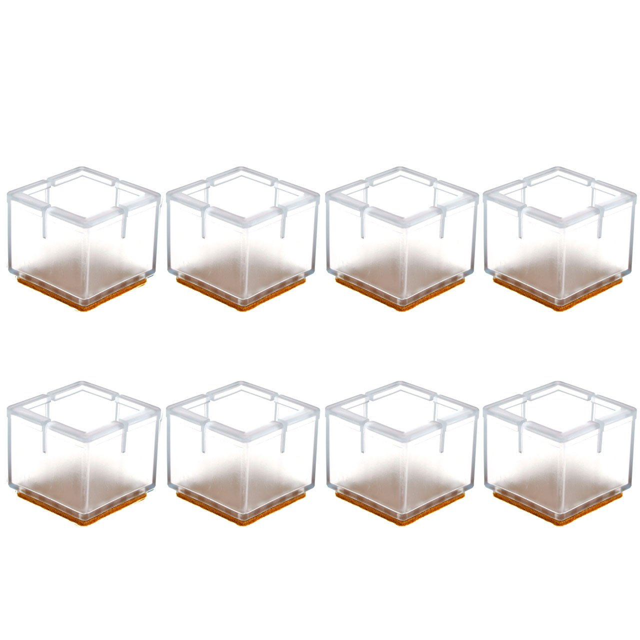Square Furniture Wood Floor Protectors Silicone Table Leg