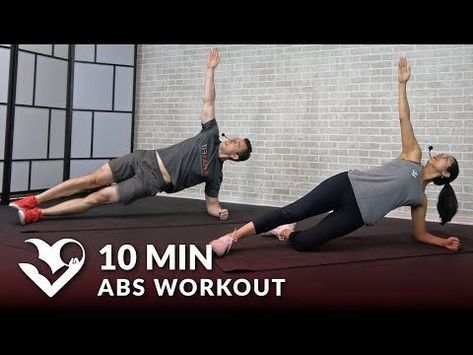 10 minute abs workout for men  women  10 min abs workout