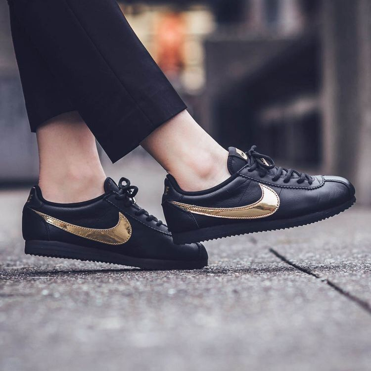 Nike Shoes | Nike Cortez Black And Gold | Color: BlackGold