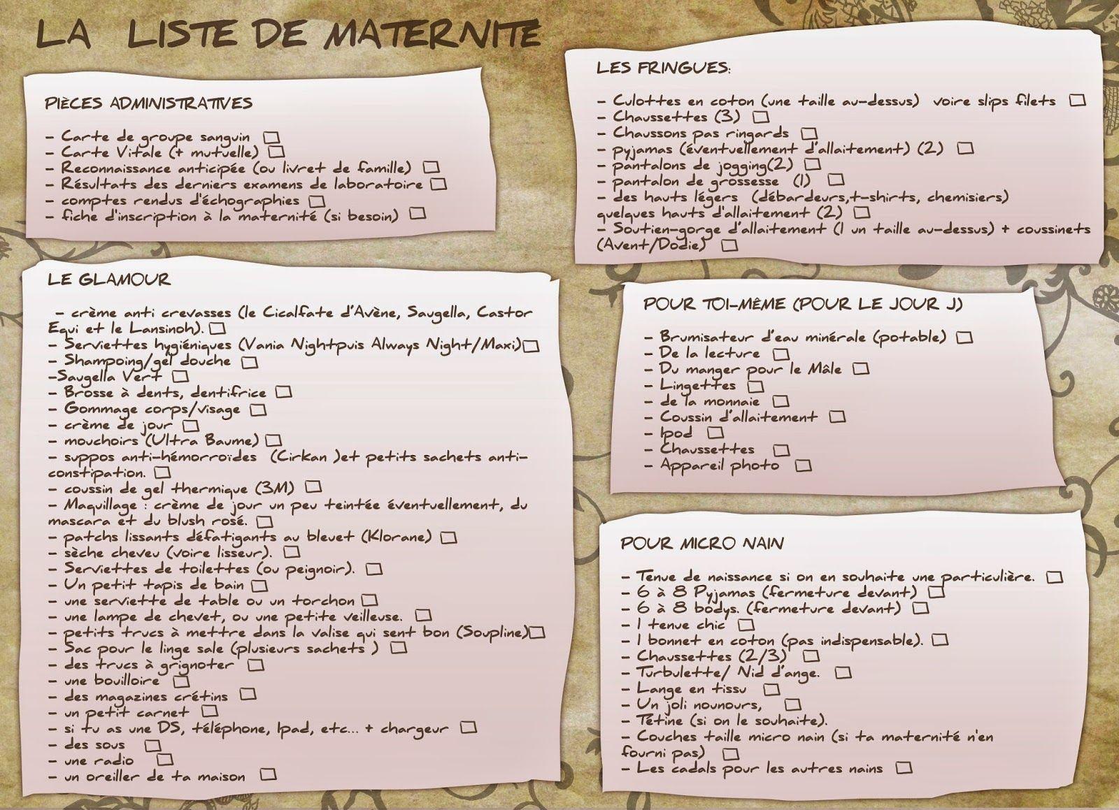 91841ad4df7af Les Mamans Testent  LA liste pour la maternité (ou   que mettre dans sa  valise de maternité )