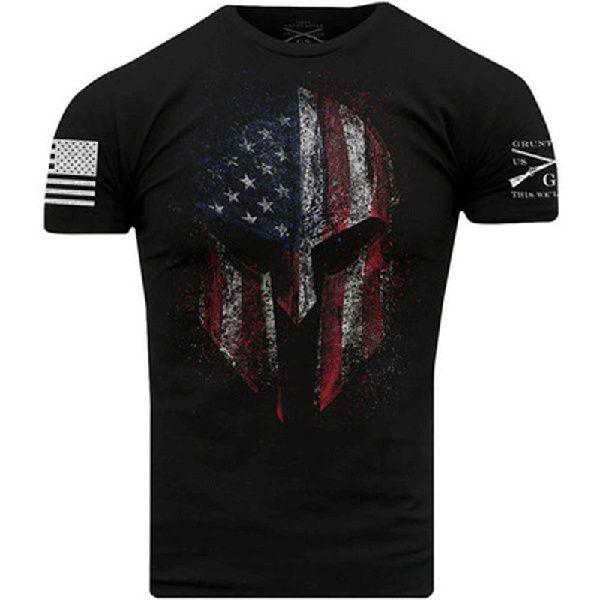 Black Grunt Style Sugar Skull T-Shirt