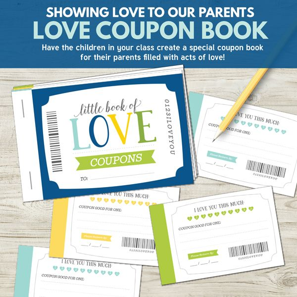 Love Coupon Book - Primary Lesson 39 (Showing Love for Our Parents