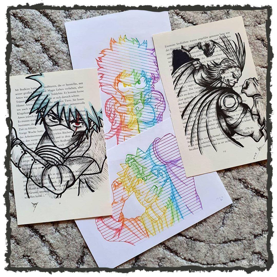 "Gefällt 277 Mal, 3 Kommentare - 🐉 Offline / 🇩🇪 / 🐉 (@draws_by_jojoasakura) auf Instagram: ""《 The good old days 🔥》 __________________________________ #naruto #kakashi #rainbow #weeb…"""