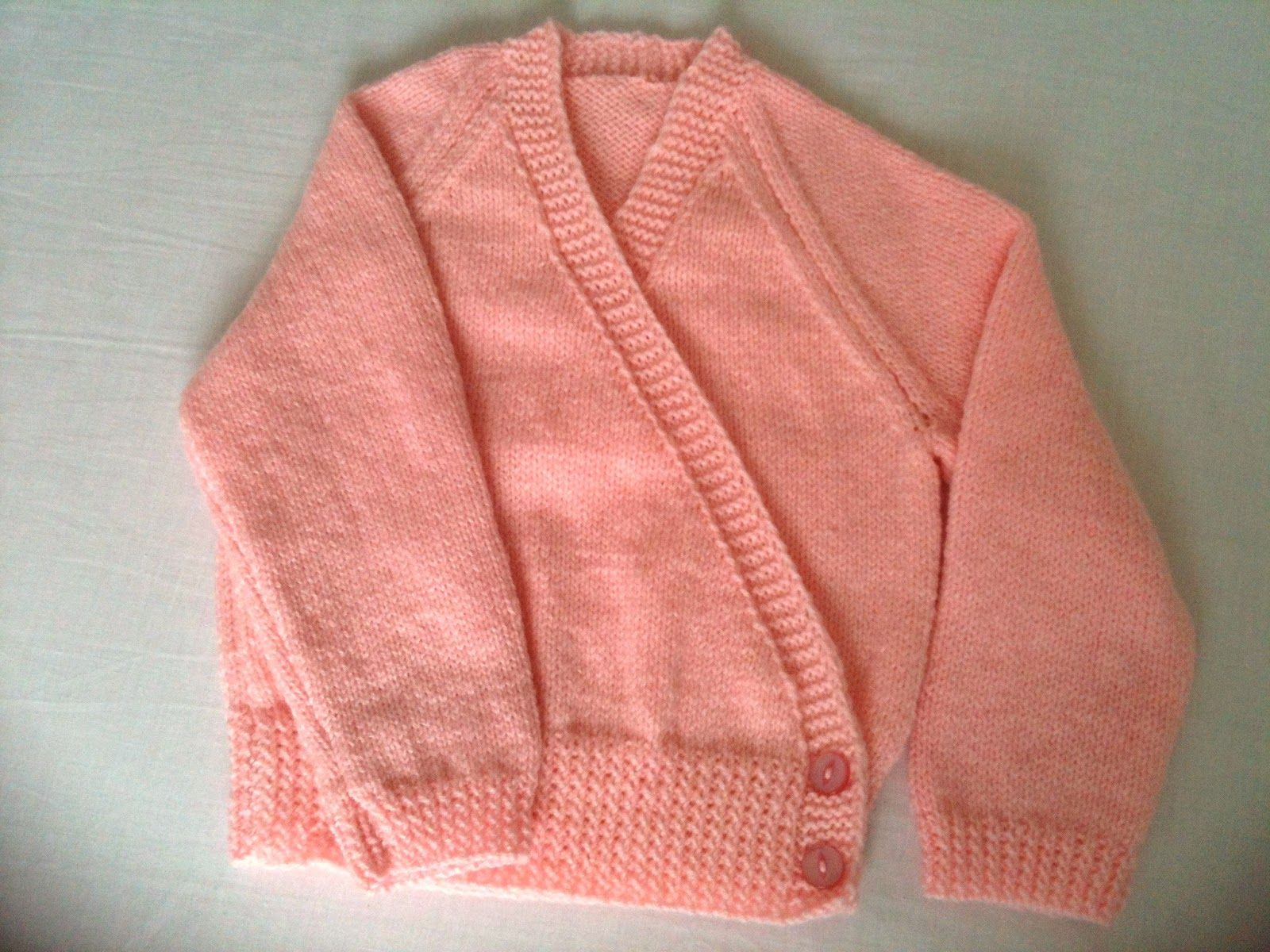Cross Over Front Buttoned Ballet Cardigan Wrap In Pink Knit