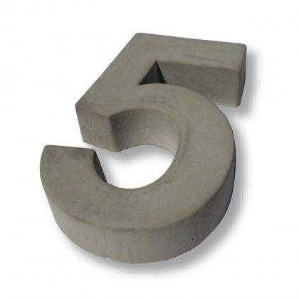 hausnummer beton 5 wunschzettel pinterest. Black Bedroom Furniture Sets. Home Design Ideas