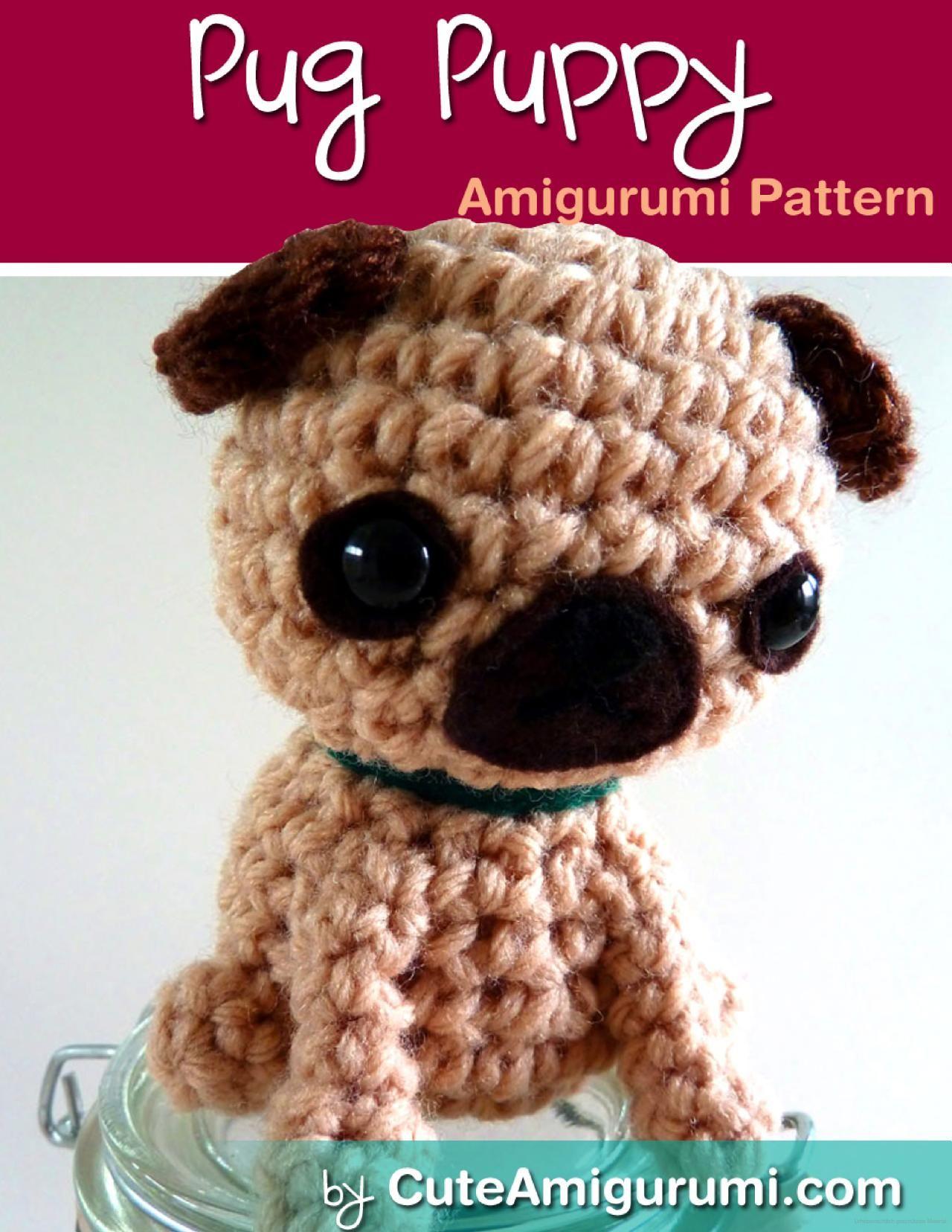 Pug Puppy Amigurumi Pattern [CuteAmigurumi.com]   Möpse   Pinterest ...